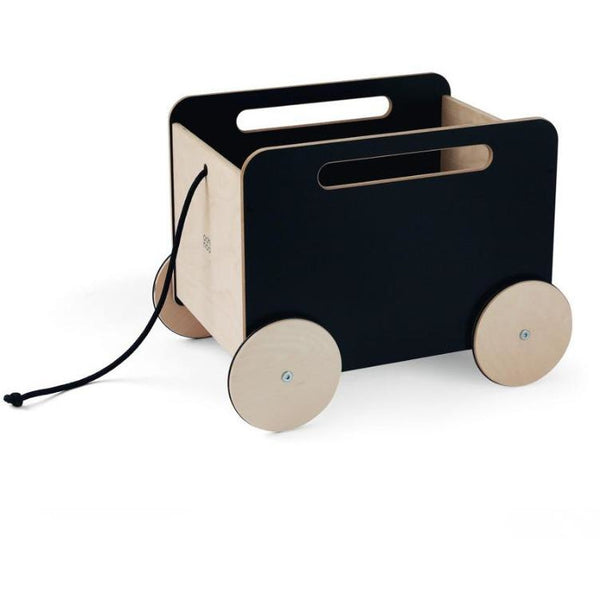 ooh noo blackboard toy chest on wheels, kid's wooden storage furniture