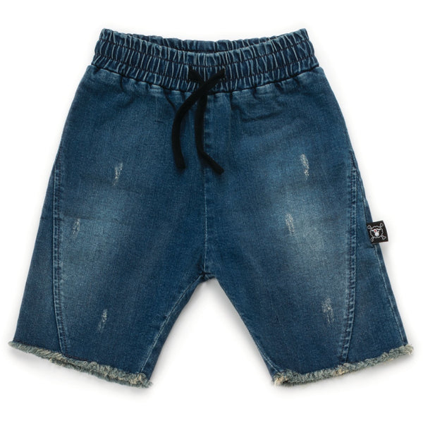 nununu new spring summer boys collection distressed shorts in washed denim - free fast shipping on all orders over $99 from kodomo