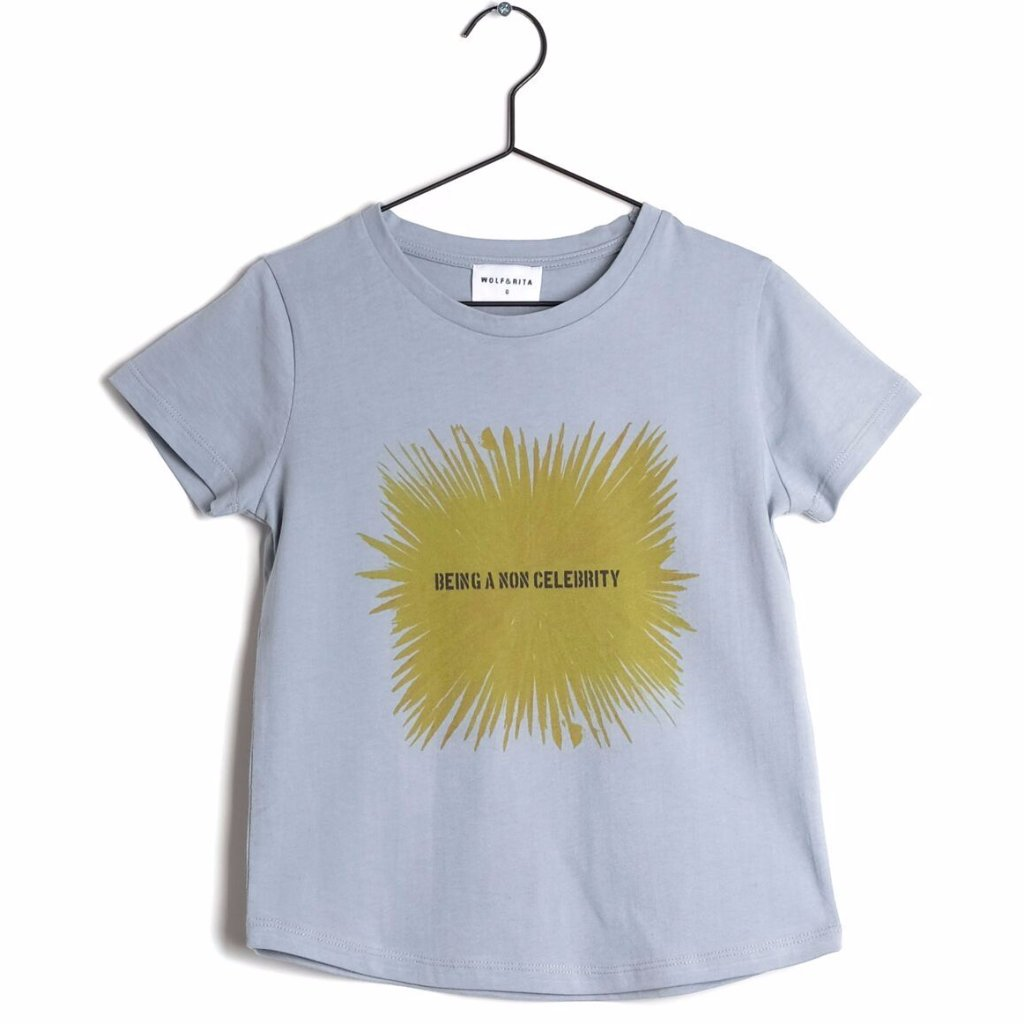 wolf and rita sebastiao pale blue kids tee shirt - free fast shipping on all orders over $99 from kodomo boston