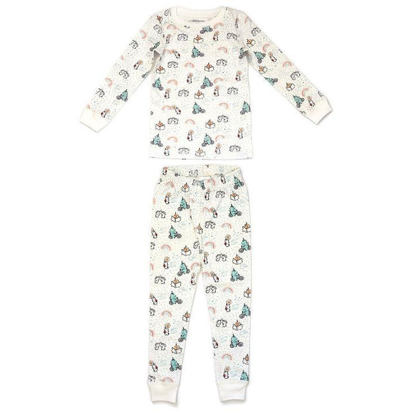 dodo banana pajama set unicorns, children's sustainable loungewear sets