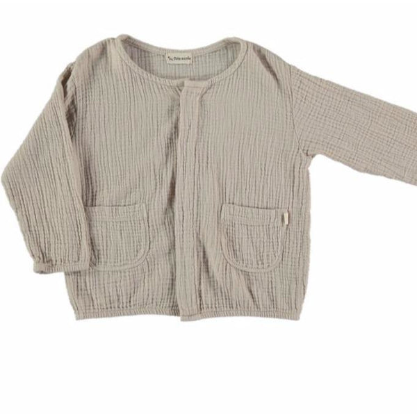 my little cozmo ushi kids jacket grey, organic kids clothes at kodomo boston