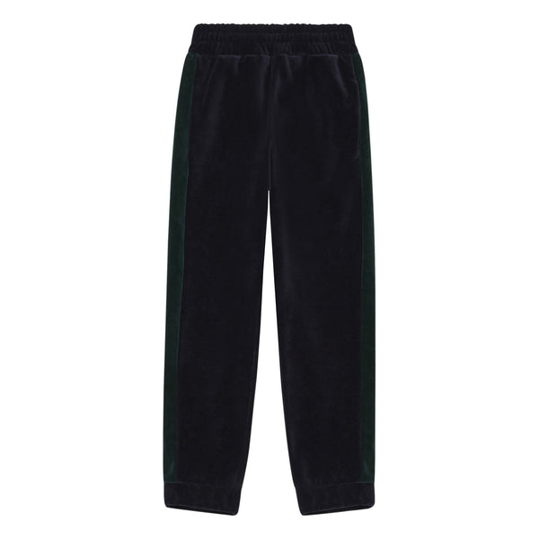 hundred pieces velour jogging pants midnight blue