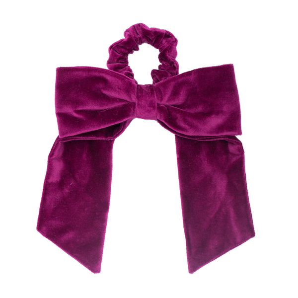 paade mode velvet hairband nova purple, girls accessories, bow and scrunchie hair tie