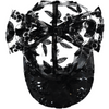 caroline bosmans transparent floral bow cap in black - free fast shipping on all orders over $99 from kodomo
