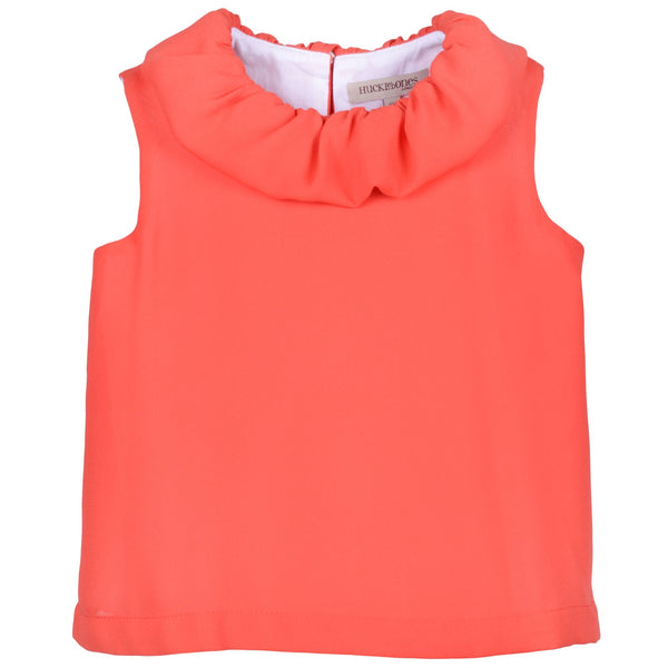 hucklebones ruffle shell top strawberry - easter outfits available at kodomo boston, free shipping