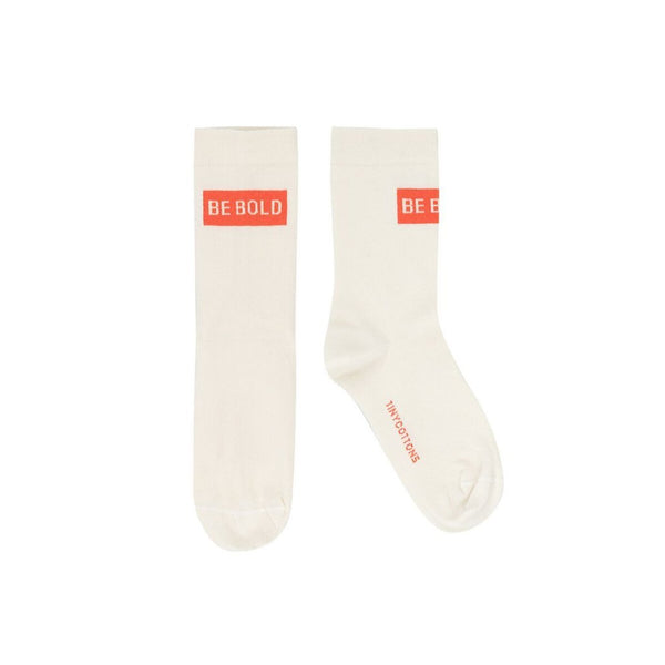 tinycottons be bold medium socks cream/red - free shipping kodomo boston.
