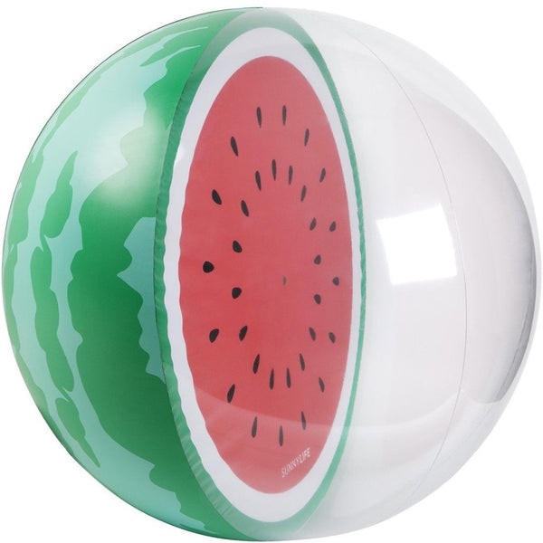 sunnylife inflatable beach ball watermelon, fun outdoor toys for kids, free fast shipping at kodomo boston
