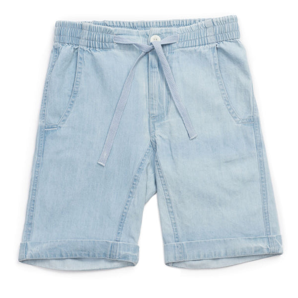 bonton rio chambray short - kodomo boston, fast shipping.