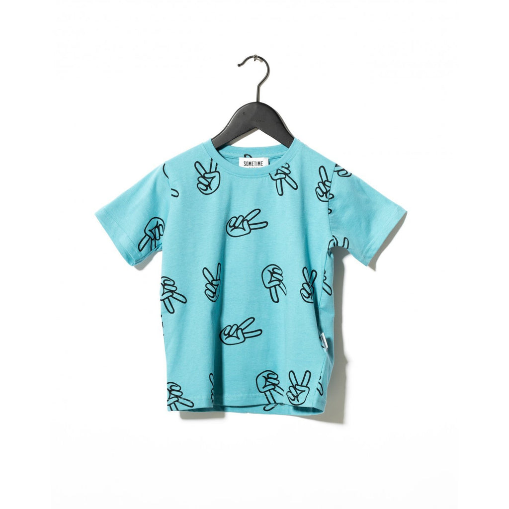 sometime soon willow tee shirt light blue