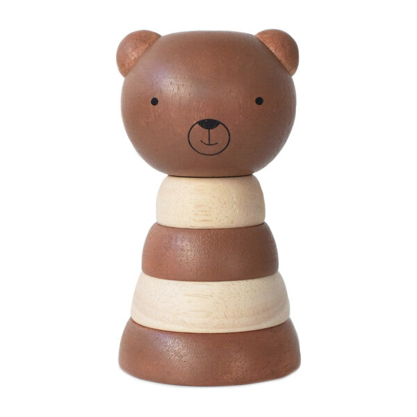 wee gallery wood stacker bear, sustainable children's wooden toys