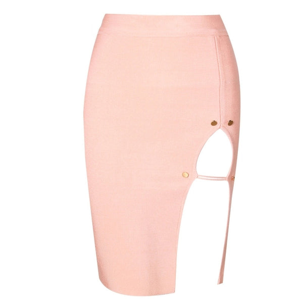 Bandage Split Skirt