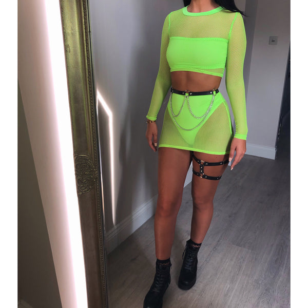 Fishnet Mini Two Piece