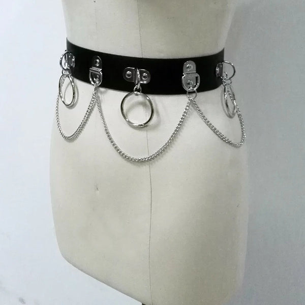Hoop Chain Waist Belt