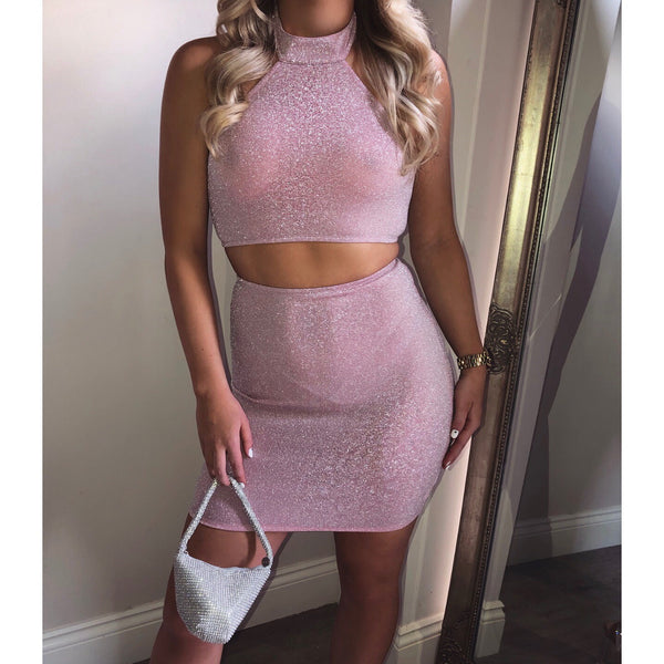 Halterneck Shimmer Two Piece