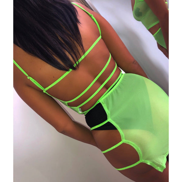 Mesh Cut Out Two Piece