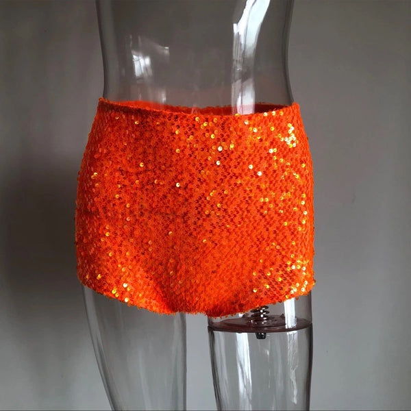 High Waist Sequin Hot Pants