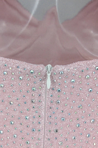 Pink Rhinestone Dress