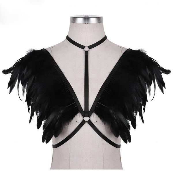 Feather Choker Harness