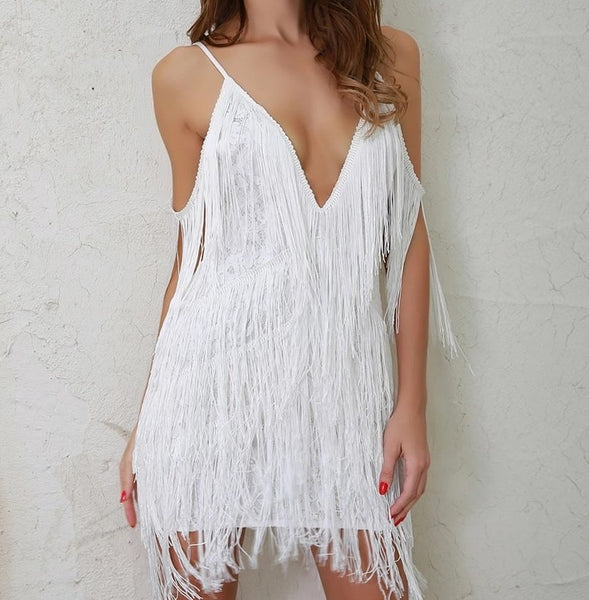Fringe Shoulder Dress