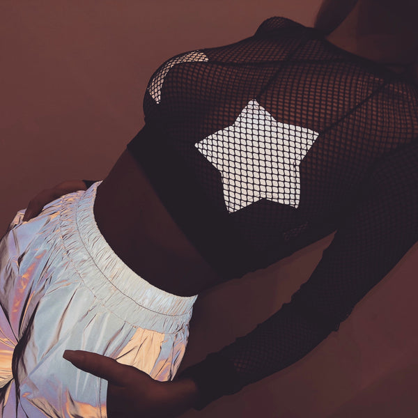 Reflective Star Bra