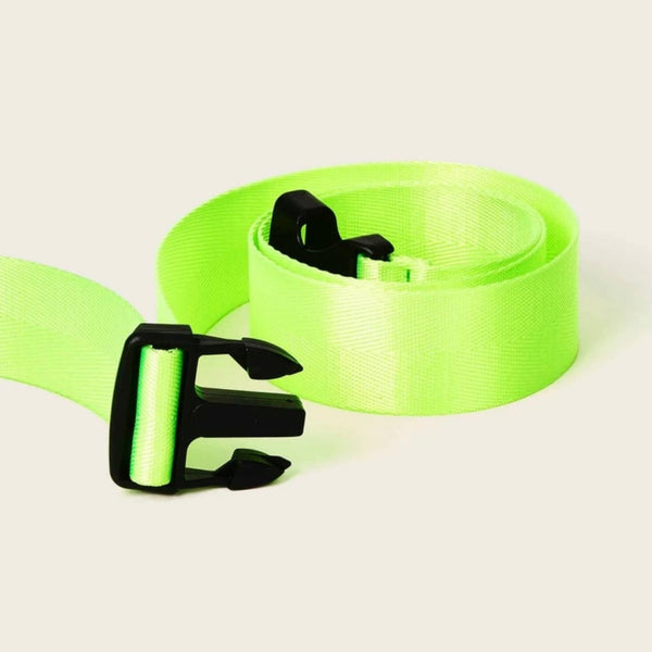 Neon Tape Buckle Belt