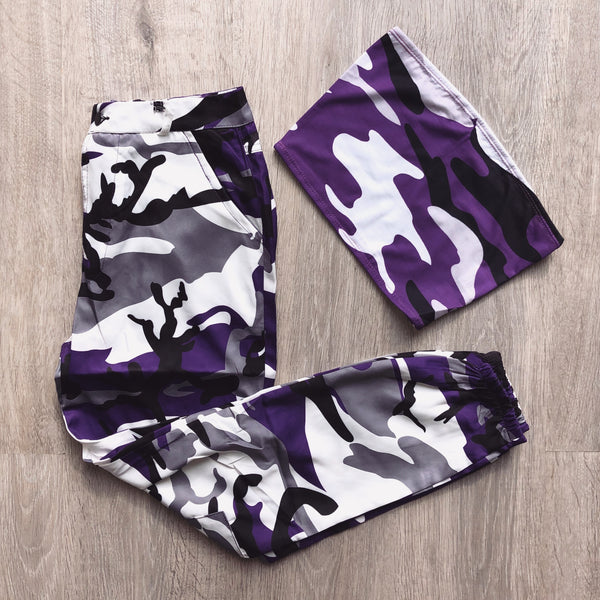Camo Bandeau Crop Top