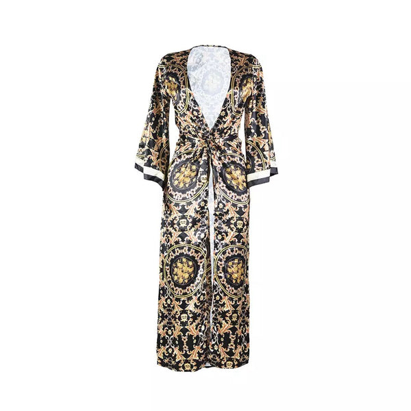 Baroque Print Robe Set