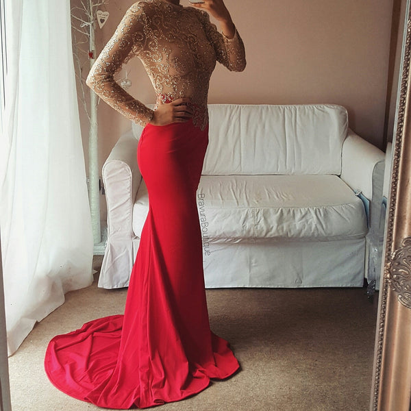 Floor Length Glitter Gown