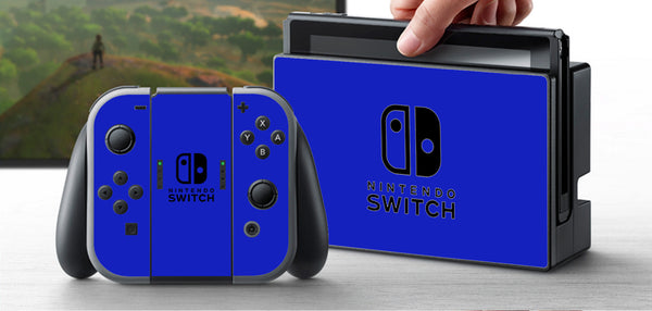 PRE-ORDER Nintendo Switch Skin Custom Vinyl Wrap Decal Sticker Blue