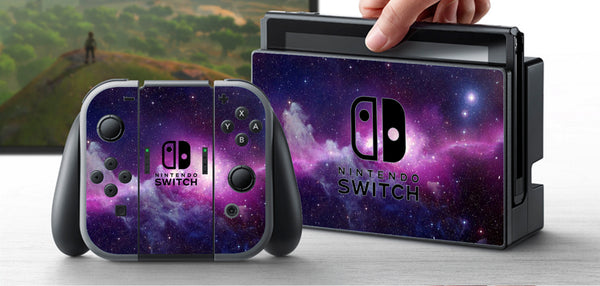 PRE-ORDER Nintendo Switch Skin Galaxy Custom Vinyl Wrap Decal Sticker