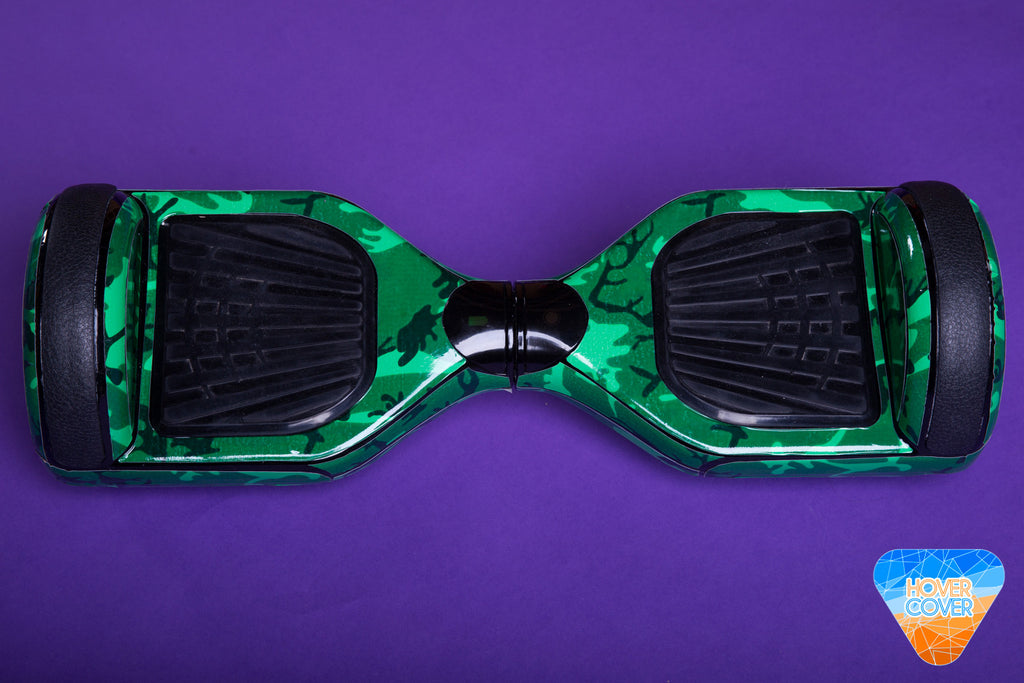 HoverCover Hoverboard Green Camo Decal Sticker Vinyl Wrap
