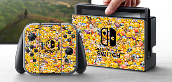 Nintendo Switch Skin Custom Vinyl Wrap Decal Sticker Emoji