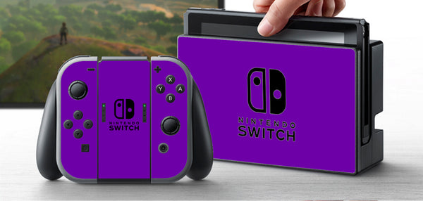 PRE-ORDER Nintendo Switch Skin Custom Vinyl Wrap Decal Sticker Purple