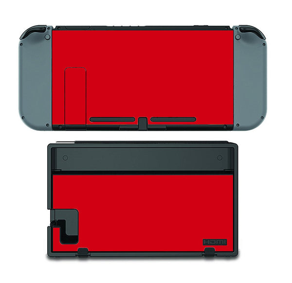 PRE-ORDER Nintendo Switch Skin Custom Vinyl Wrap Decal Sticker Red