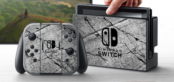 Nintendo Switch Skin Custom Vinyl Wrap Decal Sticker Stone