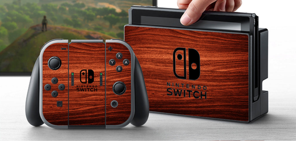 Nintendo Switch Skin Custom Vinyl Wrap Decal Sticker Wood Hover - Custom vinyl decals for wood