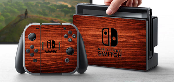 Nintendo Switch Skin Custom Vinyl Wrap Decal Sticker Wood