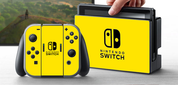 PRE-ORDER Nintendo Switch Skin Custom Vinyl Wrap Decal Sticker Yellow
