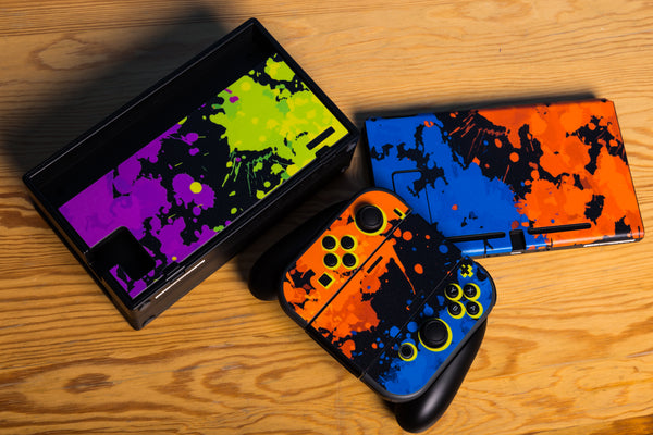 Nintendo Switch Skin Splatoon Custom Vinyl Wrap Decal Sticker