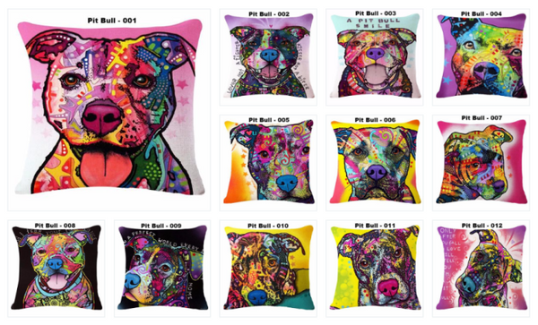 Pit Bull Throw Pillow Covers
