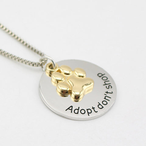 Adopt Don't Shop Necklace