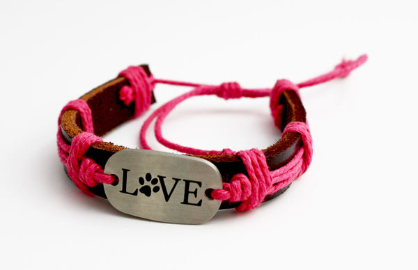 FREE OFFER - Dog Paw LOVE Bracelet - Stainless Steel