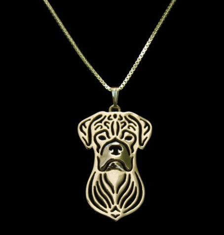 Boxer Outline Necklace