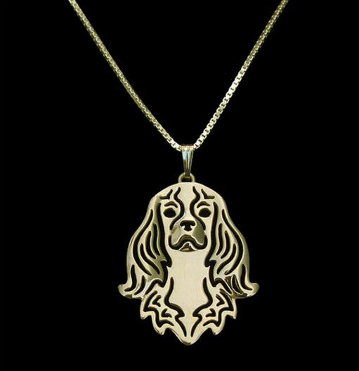 Cavalier King Charles Outline Necklace