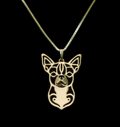 Chihuahua Outline Necklace