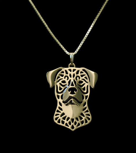 Rottweiler Outline Necklace - FREE Giveaway