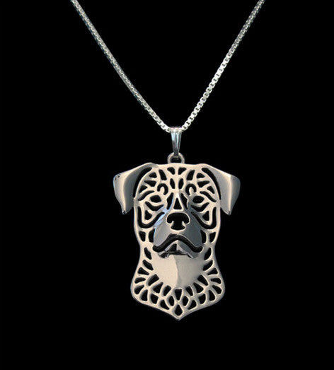 Rottweiler Outline Necklace