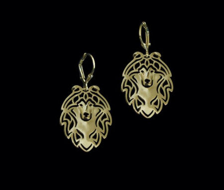 Shetland Sheepdog - Collie - Outline Drop Earrings