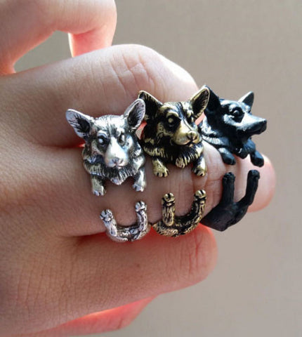 "Corgi Ring - Adjustable ""Hug Me"" Design"