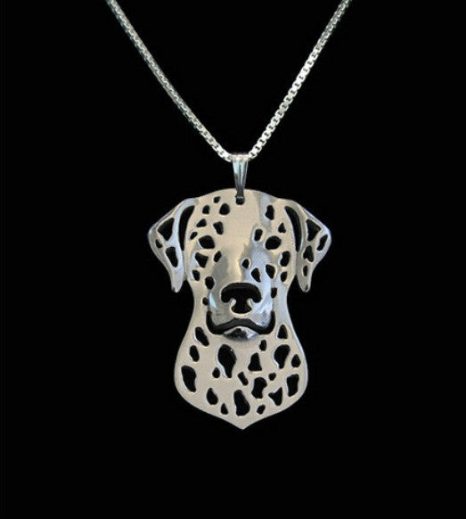 Dalmation - Face Outline Necklace